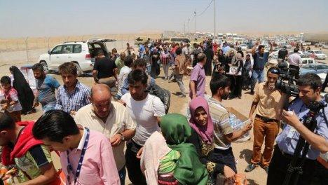 penduduk mosul mengungsi